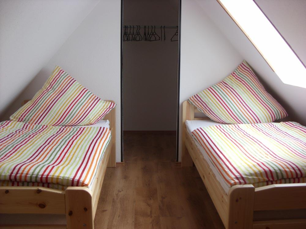 Schlafbereich Ferienwohnung Zur Hasenwiese Bramsche Surendorf